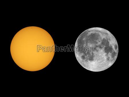 sun mit sonnenflecken mit teleskop gesehen
