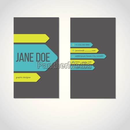 cool portrait business card with color