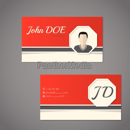 business card set with photo and