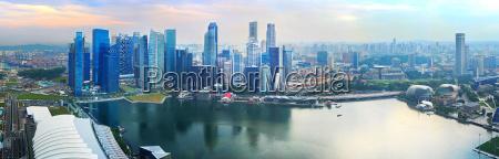 singapore downtown panorama