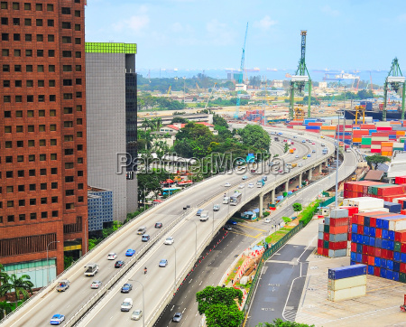 modern singapore highway