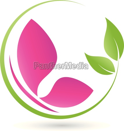 leaves and butterflybutterflyinsectlogo