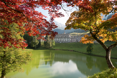 autumn mountain landscape in the french