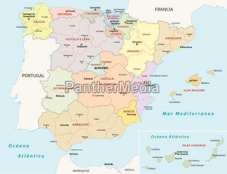 spanien administrativ verwaltungsmaessig himmelskarte globus atlas