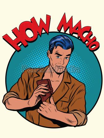 how macho male purse money
