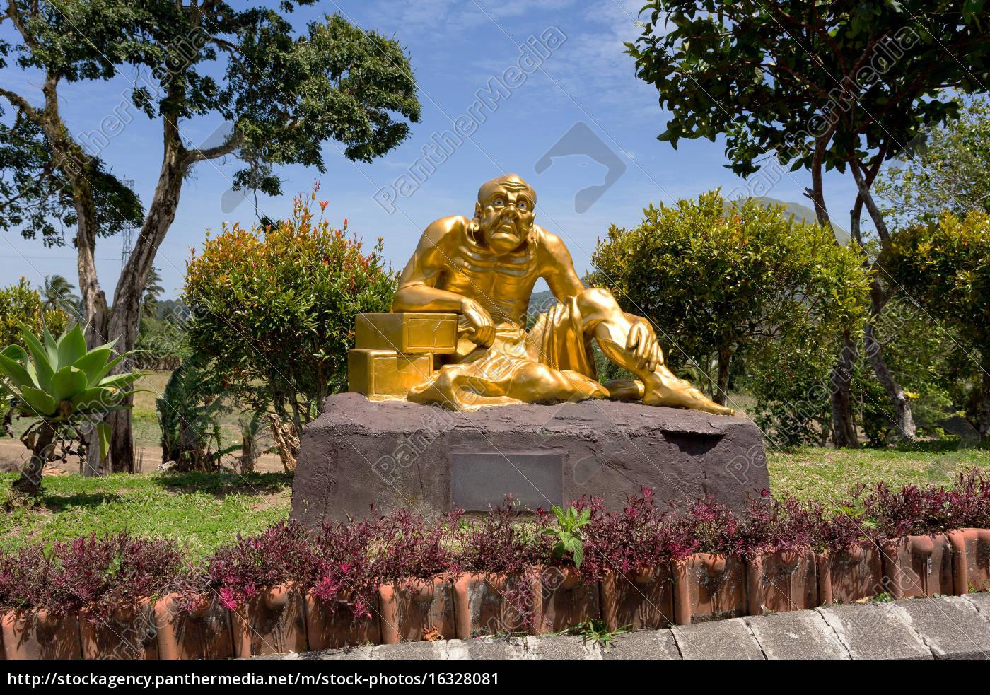 fat, monk, statue, in, complex, pagoda - 16328081