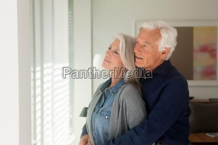 portrait of loving senior couple standing