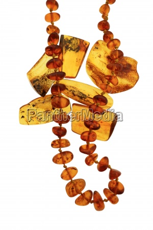 amber beads necklace and polished amber
