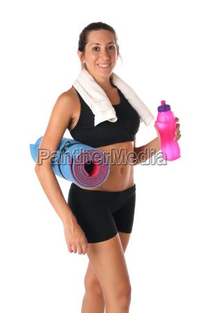 gesunder, lebensstil., fitness, frau, trinkwasser - 16333257