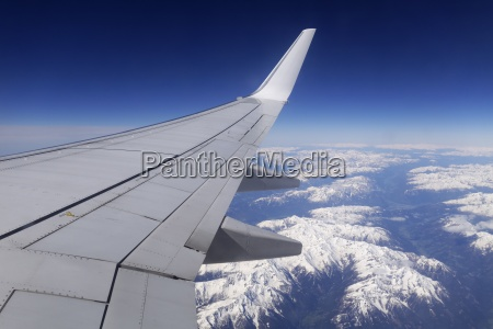 austria aerial view flightplane over the