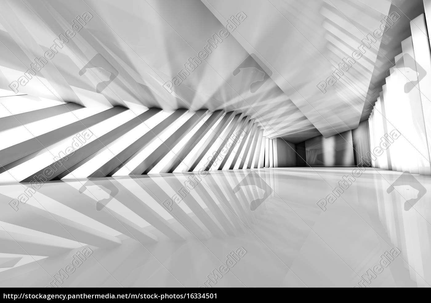 Futuristisch Leeren Raum3d Rendering Lizenzfreies Bild
