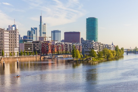 germany hesse frankfurt view to main