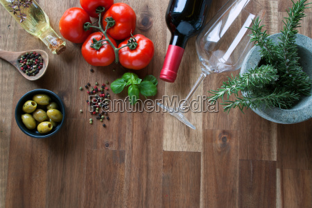 ingredients for an italian meal