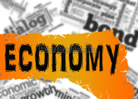 word cloud with economy word on