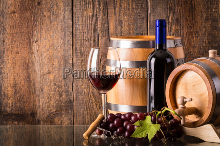 glass of red wine with dark