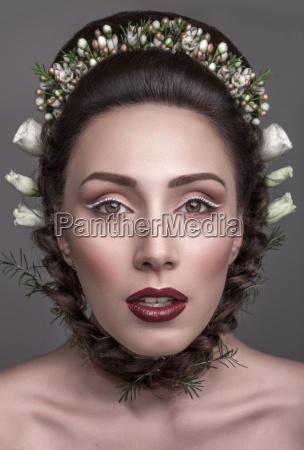 glamorous brunette bright makeup colors color