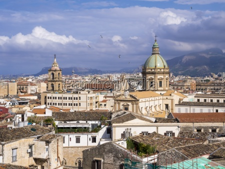 italy sicily palermo old town church