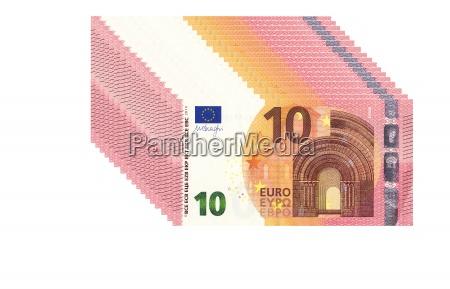 stapel von zehn euro scheine