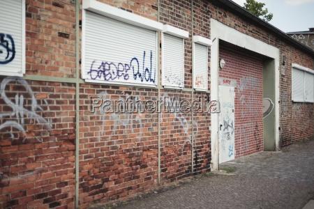 deutschland sachsen leipzig graffiti an der