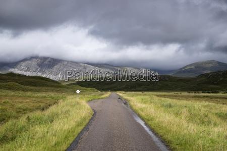 uk scotland achfary single track road
