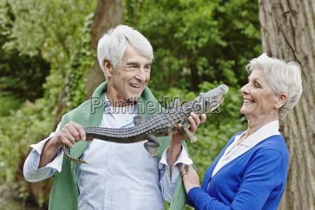 germany hesse frankfurt senior couple
