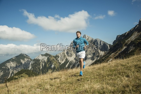 austria tyrol tannheim valley young man