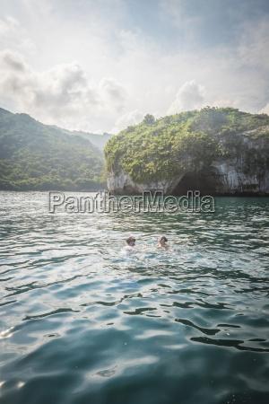 mexico banderas bay people swimming at