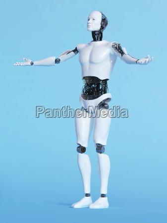 roboter mann in einladender pose