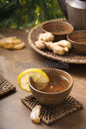 ginger lemon tea in a tea