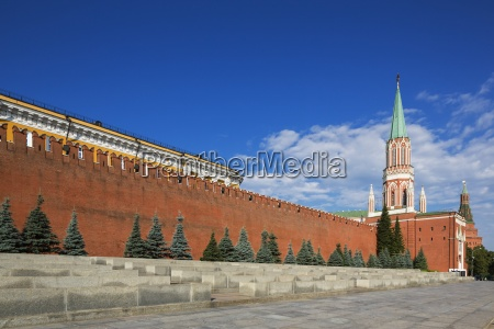 russia moscow red square with senate
