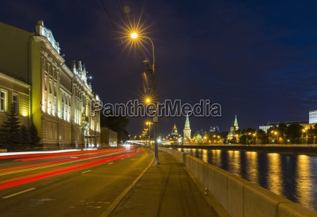 russia moscow kremlin street at the