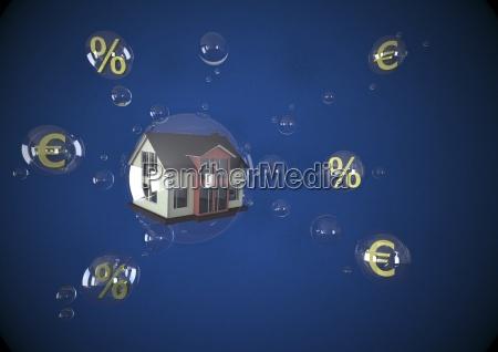 illustration immobilienblase