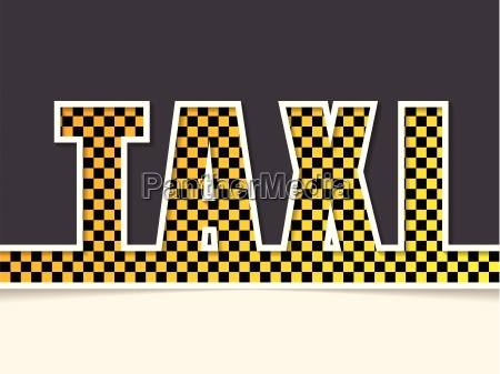 checkered taxi text background template