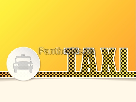 checkered taxi text design with taxi