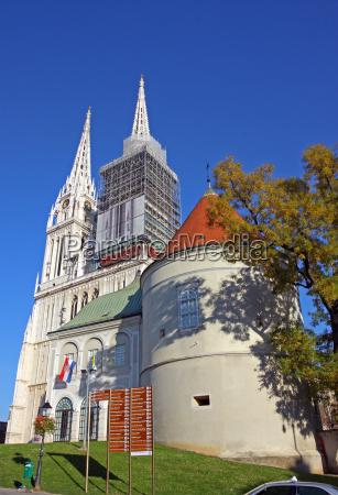 cathedral in zagreb croatia