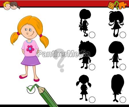 shadows activity for children
