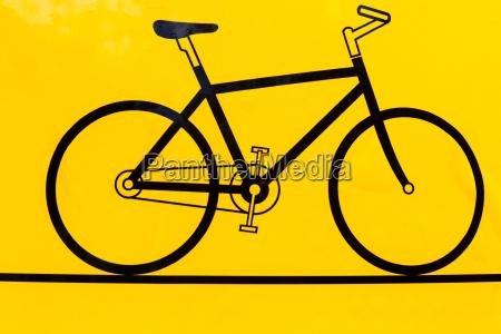 fahrradskizze ikone moderne minimale flache design