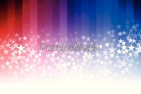 blauer, und, roter, sternhintergrund - 16398742