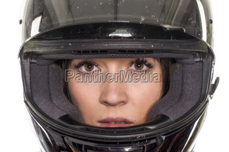 woman portrait with helmet