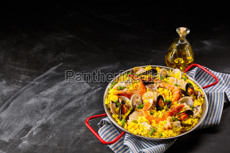 homemade seafood recipe in pan with