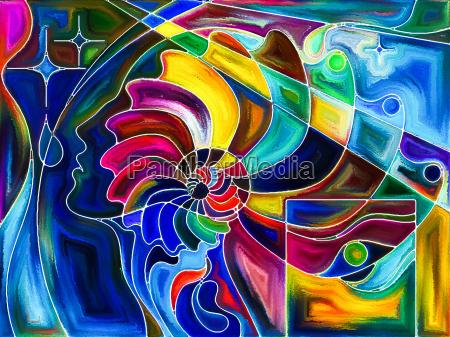 profil kunst komposition model entwurf konzept