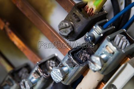 kurzschluss in einer elektrischen anlage kupfer