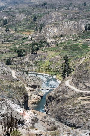 canyon of the colca river in