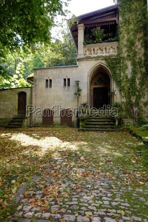 kloster schulpforte mit klostergarten in schulpforte