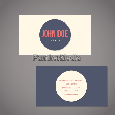 simplistic flat business card