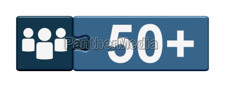 puzzle button 50
