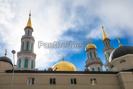 towers of moscow cathedral mosque in