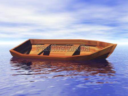 ruderboot im wasser