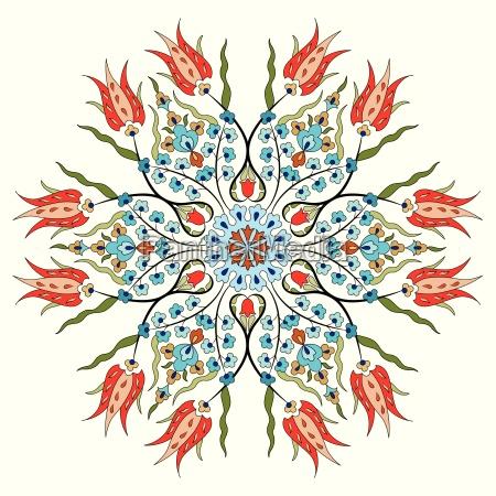 antiguo otomano turco patron disenyo vectorial