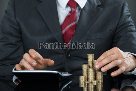 close up of a businessman counting